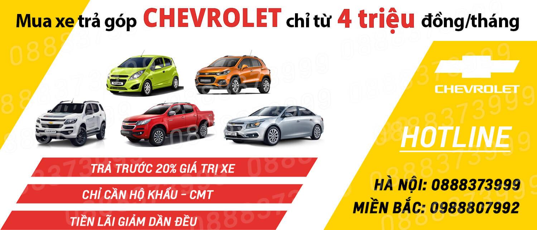 Mua xe Ô tô Chevrolet trả góp