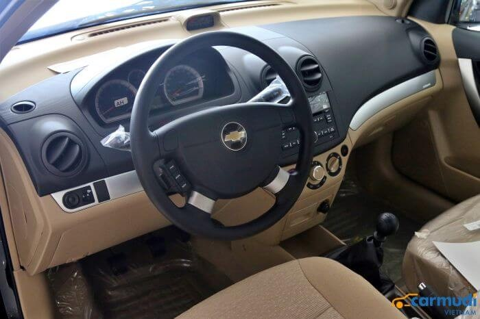 Thiết kế Vô lăng của xe Chevrolet Aveo carmudi vietnam