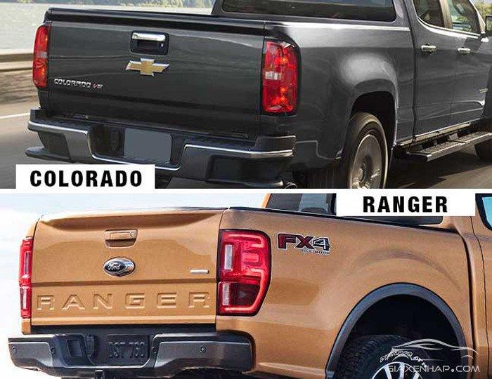 So sánh Ford Ranger vs Chevrolet Colorado xe nào mạnh hơn